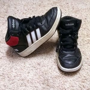 Kids high top Adidas shoes